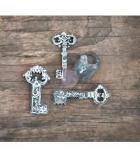 Шебби-фигурки Ключи 3.8х3.8 см, набор 12 элементов (ЦЕНА УКАЗАНА ЗА 1/3 НАБОРА)