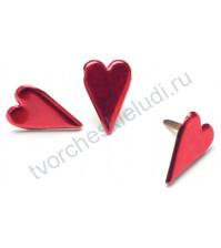 Набор брадсов Red Country Heart, 11х15 мм, 50 шт