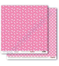 Бумага для скрапбукинга двусторонняя Зимние контрасты, 30.5х30.5 см, 190 гр/м, лист Звездная ночь Розовое наваждение