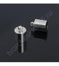 Концевик-шапочка, 9 мм, цвет серебро