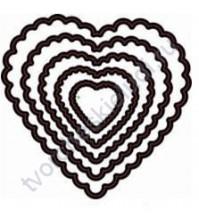 Набор ножей для вырубки Сердечки Фигурные, 5 элементов
