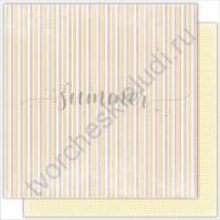 Бумага для скрапбукинга двусторонняя 30.5х30.5 см, 190 гр/м, коллекция The magic of nature, лист Geometry
