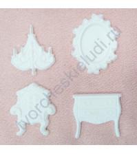 Набор пластиковых фигурок Роскошная гостиная, 4 элемента