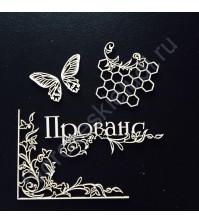 Набор чипборда коллекция Цветы Прованса, размер 7.5х10 см