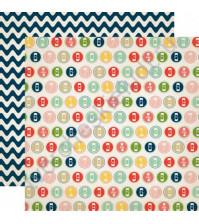 Бумага для скрапбукинга двусторонняя коллекция Its a Celebration Collection, 30.5х30.5 см, 180 гр/м, лист Large Numbers