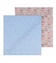 Бумага для скрапбукинга двусторонняя 30.5х30.5 см, 180 гр/м2, лист Много счастья