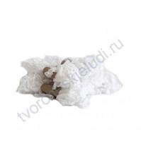 Шебби-лента мятая, белая, ширина 14мм, моток 5м