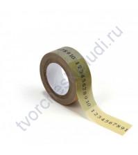 Бумажный скотч с принтом Даты, 15ммх8м
