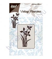 Нож для вырубки и тиснения Flowers and leaves-1, Цветы и листья-1