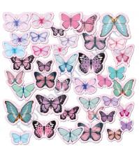 Набор высечек (вырубок) Бабочки нежные, плотность 190 гр/м