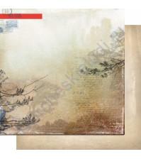Бумага для скрапбукинга двусторонняя, коллекция Шепот, 30.3х30.3 см, 200 гр/м, лист 004
