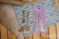 Набор ножей для вырубки Рыбалка-2, 4 элемента