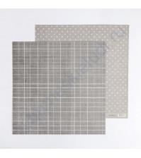 Кардсток с рисунком Стильный серый, 30.5х30.5 см, 270 гр/м2