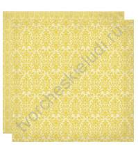 Бумага для скрапбукинга двусторонняя коллекция Harmony, 30.5х30.5 см, 220 гр/м, лист Zest