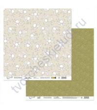 Бумага для скрапбукинга двусторонняя Физалис, 190 гр/м2, 30.5х30.5 см, лист 2