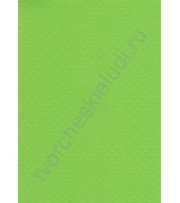Лист бумаги для скрапбукинга с эмбоссированием (тиснением) Точки, А4, 160 гр, цвет ярко-зеленый