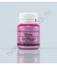 Краска акриловая перламутровая AcryPearl на водной основе, флакон 20 мл, цвет перламутровый розовый