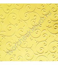 Дизайнерская бумага с эмбоссированием (тиснением) Изысканные цветы, А4, 120 гр, цвет Сияние золота