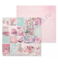Бумага для скрапбукинга двусторонняя, коллекция Карточки, 30.5х30.5 см, 180 гр/м2, лист Happy moments