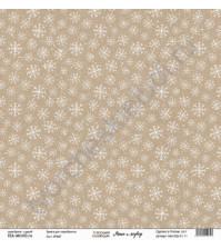 Бумага для скрапбукинга односторонняя, коллекция Маша и медведь, 30.5х30.5 см, 190 гр\м2, лист Крафт
