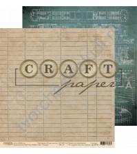 Бумага для скрапбукинга двусторонняя коллекция I've got your six, 30.5х30.5 см, 190 гр/м, лист Усердие