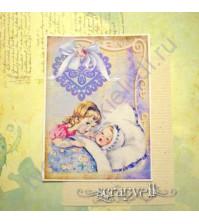 Тканевая карточка Детки-2-4, размер 7.5х9 см