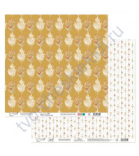 Бумага для скрапбукинга двусторонняя коллекция Ловец снов, 30.5х30.5 см, 190 гр/м, лист 2