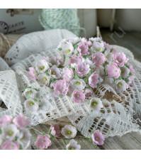 Букетик цветов ручной работы из ткани, 10 шт, цвет розовый микс