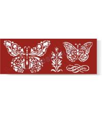 Трафарет Ажурные бабочки-1, 8.5х23 см