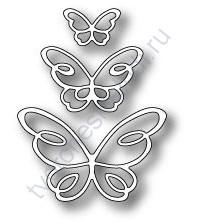 Нож для вырубки Devyn Butterfly Trio, 3 шт