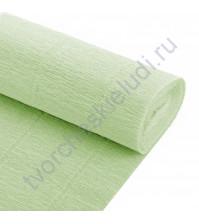 Гофрированная бумага плотность 144 гр/м2, 50см х 2.5м, цвет 566-нежно-зеленый