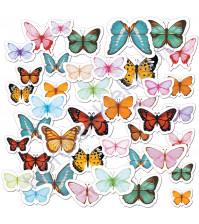 Набор высечек (вырубок) Бабочки яркие, плотность 190 гр/м