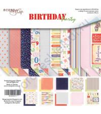 Набор двусторонней бумаги Birthday Party, 30.5х30.5 см, 190 гр/м, 10 листов