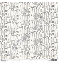 Бумага для скрапбукинга односторонняя коллекция Папа может всё, 30.5х30.5 см, 190 гр/м, лист Папина одежда