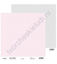 Бумага для скрапбукинга двусторонняя, коллекция Нежный шик, 30х30 см, 250 гр/м2, лист 6