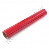 Винил клеевой голографический, цвет красный, 30.5х30.5 см (+/- 0.5см)