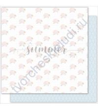 Бумага для скрапбукинга двусторонняя 30.5х30.5 см, 190 гр/м, коллекция Vanilla dreams, лист Sheep