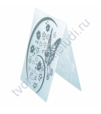 Папка для эмбоссинга Порхающая бабочка в цветах, А6