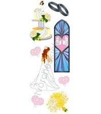 Набор 3D стикеров Wedding, размер набора 7х17 см