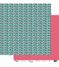 Бумага для скрапбукинга двусторонняя 30.5х30.5 см, 190 гр/м2, коллекция Красна девица, лист Сладкая ягодка