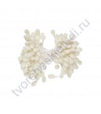 Тычинки двусторонние сахарные 3 мм, 85 шт, цвет белый