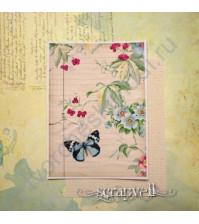 Тканевая карточка Нежность 3, размер 7.5х9 см