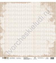 Бумага для скрапбукинга односторонняя Новый год, 30.5х30.5 см, 190 гр/м, лист Вязаный плед