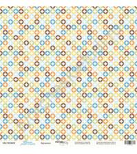 Бумага для скрапбукинга односторонняя 30.5х30.5 см, 190 гр/м, коллекция Такие мальчишки , лист Кружочки