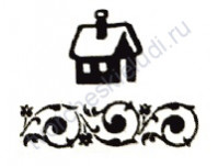 Штемпельная подушечка на водной основе, 3х3 см, цвет 024-уголь
