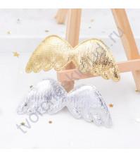 Аппликация тканевая Крылья, 29х80 мм, цвет золото
