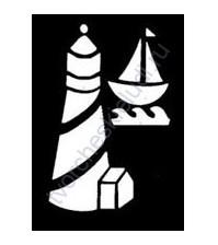 Трафарет металлический для тиснения Lighthouse, 5.5х8 см