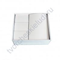 Заготовка для Маминых сокровищ на 4 коробочки, 16.5х19 см, цвет белый