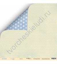 Бумага для скрапбукинга двусторонняя 30.5х30.5 см, 190 гр/м, коллекция Little Bear, лист Детство