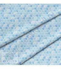 Ткань для рукоделия Волны, 100% хлопок, плотность 150 гр/м2, размер отреза 50х80 см